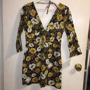 Zara flower mini dress